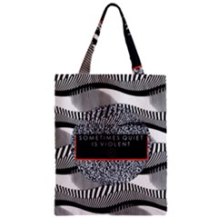 Sometimes Quiet Is Violent Twenty One Pilots The Meaning Of Blurryface Album Zipper Classic Tote Bag