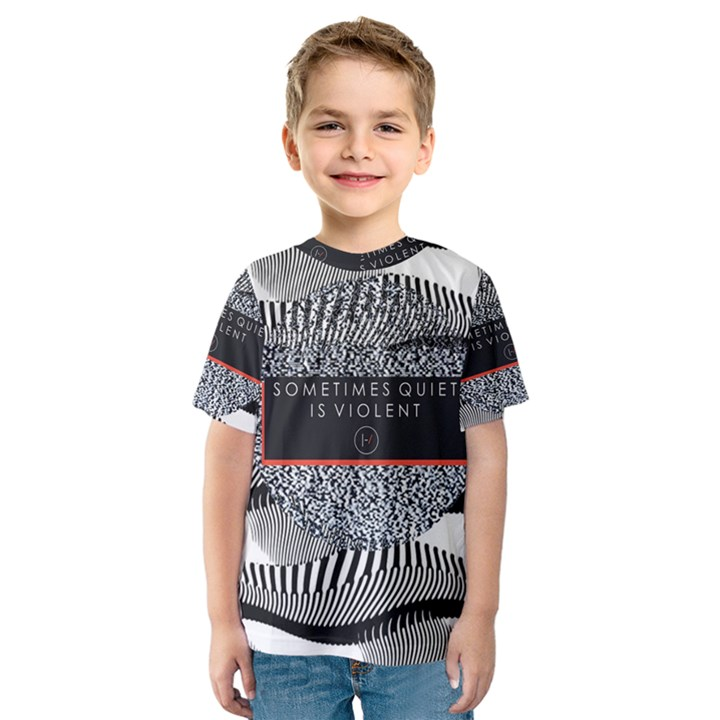 Sometimes Quiet Is Violent Twenty One Pilots The Meaning Of Blurryface Album Kids  Sport Mesh Tee