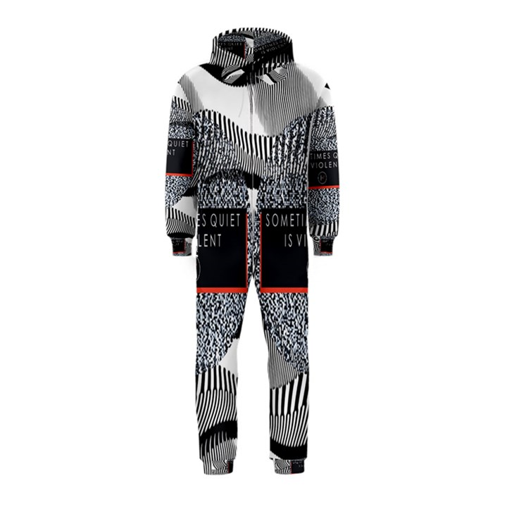 Sometimes Quiet Is Violent Twenty One Pilots The Meaning Of Blurryface Album Hooded Jumpsuit (Kids)