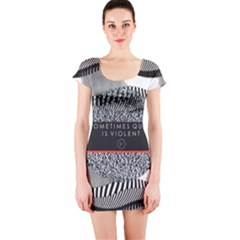 Sometimes Quiet Is Violent Twenty One Pilots The Meaning Of Blurryface Album Short Sleeve Bodycon Dress