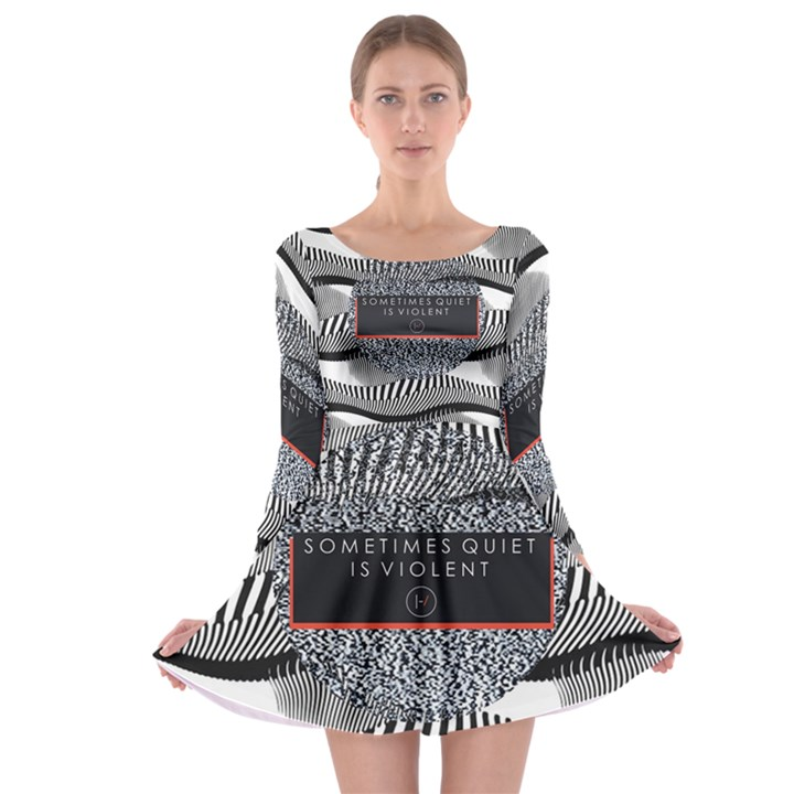 Sometimes Quiet Is Violent Twenty One Pilots The Meaning Of Blurryface Album Long Sleeve Skater Dress