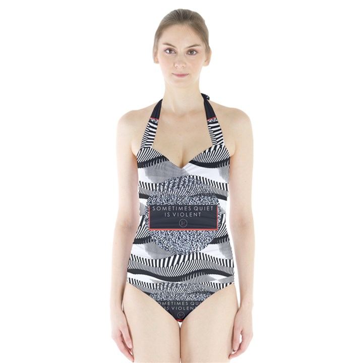 Sometimes Quiet Is Violent Twenty One Pilots The Meaning Of Blurryface Album Halter Swimsuit