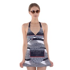 Sometimes Quiet Is Violent Twenty One Pilots The Meaning Of Blurryface Album Halter Swimsuit Dress