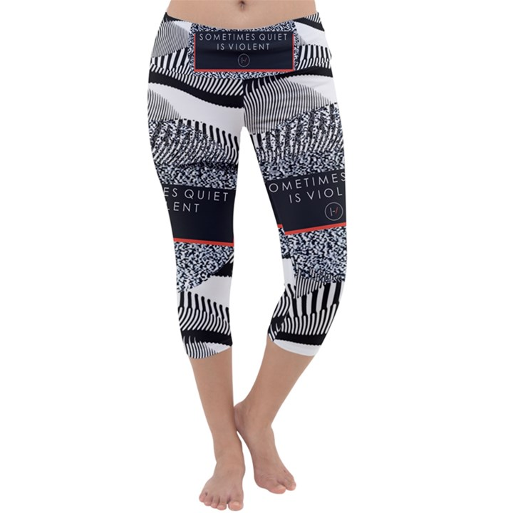 Sometimes Quiet Is Violent Twenty One Pilots The Meaning Of Blurryface Album Capri Yoga Leggings