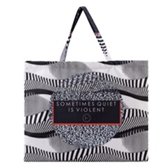 Sometimes Quiet Is Violent Twenty One Pilots The Meaning Of Blurryface Album Zipper Large Tote Bag