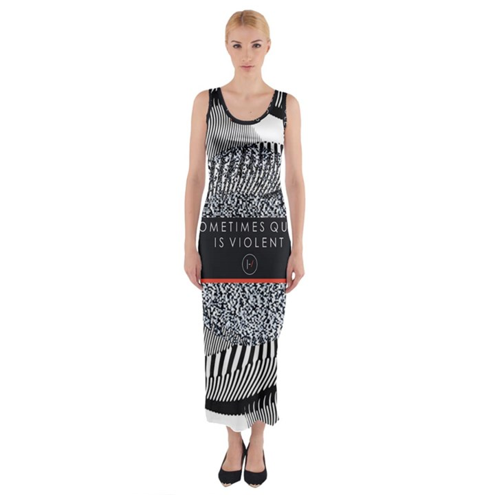 Sometimes Quiet Is Violent Twenty One Pilots The Meaning Of Blurryface Album Fitted Maxi Dress