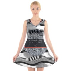 Sometimes Quiet Is Violent Twenty One Pilots The Meaning Of Blurryface Album V Neck Sleeveless Skater Dress