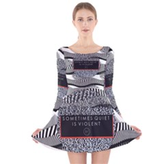 Sometimes Quiet Is Violent Twenty One Pilots The Meaning Of Blurryface Album Long Sleeve Velvet Skater Dress