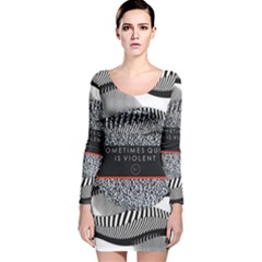 Sometimes Quiet Is Violent Twenty One Pilots The Meaning Of Blurryface Album Long Sleeve Velvet Bodycon Dress