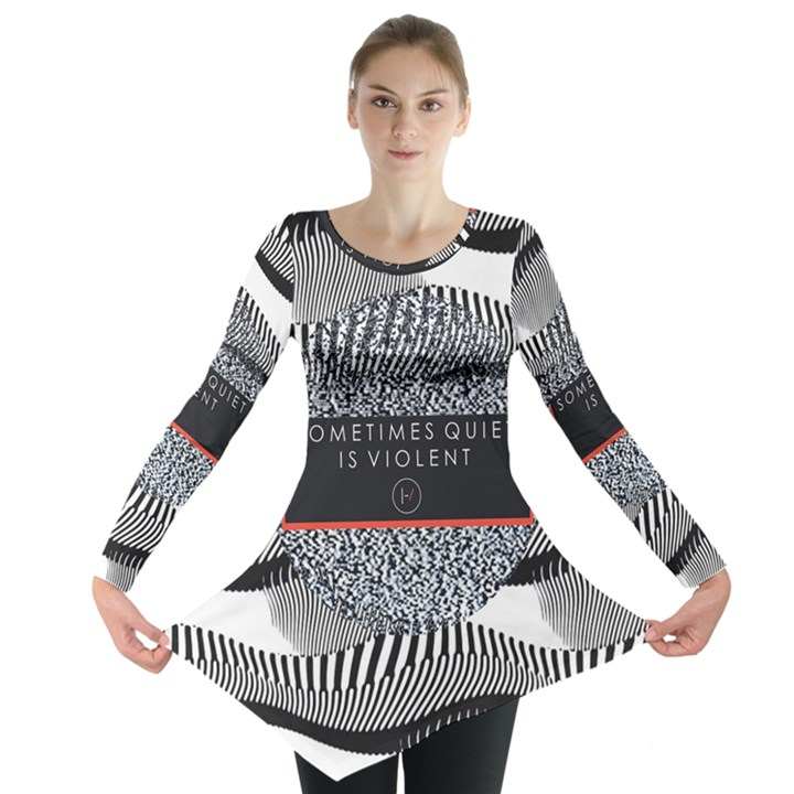 Sometimes Quiet Is Violent Twenty One Pilots The Meaning Of Blurryface Album Long Sleeve Tunic