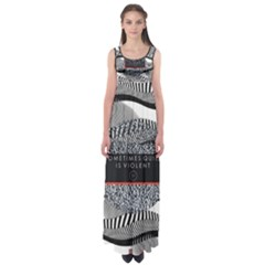 Sometimes Quiet Is Violent Twenty One Pilots The Meaning Of Blurryface Album Empire Waist Maxi Dress