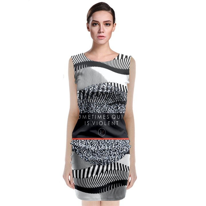 Sometimes Quiet Is Violent Twenty One Pilots The Meaning Of Blurryface Album Classic Sleeveless Midi Dress