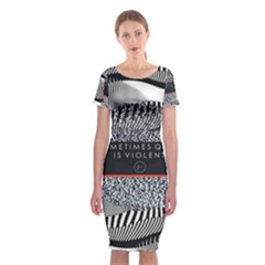 Sometimes Quiet Is Violent Twenty One Pilots The Meaning Of Blurryface Album Classic Short Sleeve Midi Dress