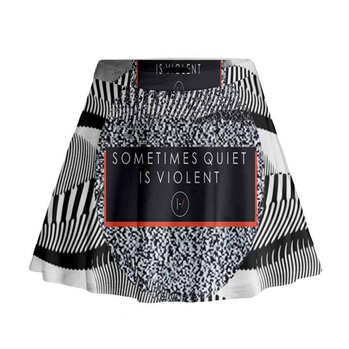 Sometimes Quiet Is Violent Twenty One Pilots The Meaning Of Blurryface Album Mini Flare Skirt