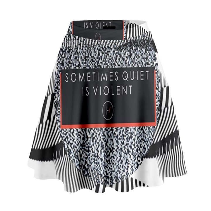 Sometimes Quiet Is Violent Twenty One Pilots The Meaning Of Blurryface Album High Waist Skirt