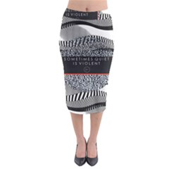 Sometimes Quiet Is Violent Twenty One Pilots The Meaning Of Blurryface Album Midi Pencil Skirt