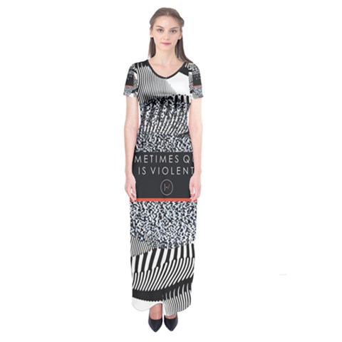 Sometimes Quiet Is Violent Twenty One Pilots The Meaning Of Blurryface Album Short Sleeve Maxi Dress