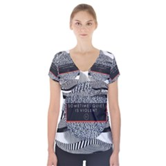Sometimes Quiet Is Violent Twenty One Pilots The Meaning Of Blurryface Album Short Sleeve Front Detail Top