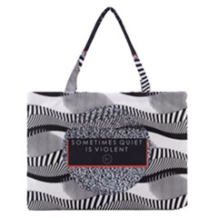 Sometimes Quiet Is Violent Twenty One Pilots The Meaning Of Blurryface Album Medium Zipper Tote Bag