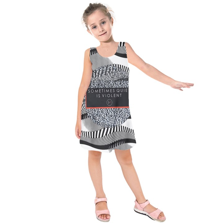 Sometimes Quiet Is Violent Twenty One Pilots The Meaning Of Blurryface Album Kids  Sleeveless Dress