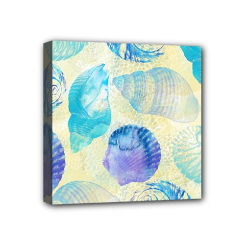 Seashells Mini Canvas 4  x 4