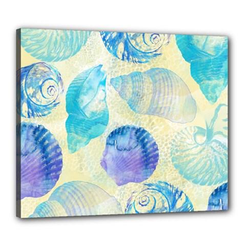 Seashells Canvas 24  X 20