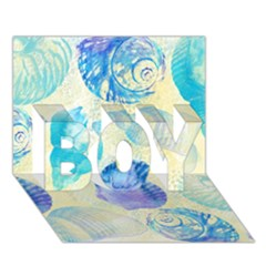 Seashells BOY 3D Greeting Card (7x5)
