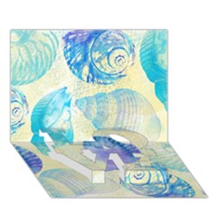 Seashells LOVE Bottom 3D Greeting Card (7x5)