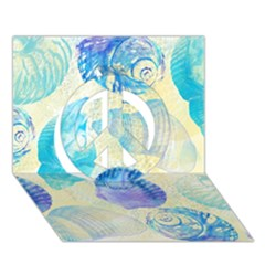 Seashells Peace Sign 3D Greeting Card (7x5)