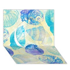 Seashells Circle 3D Greeting Card (7x5)
