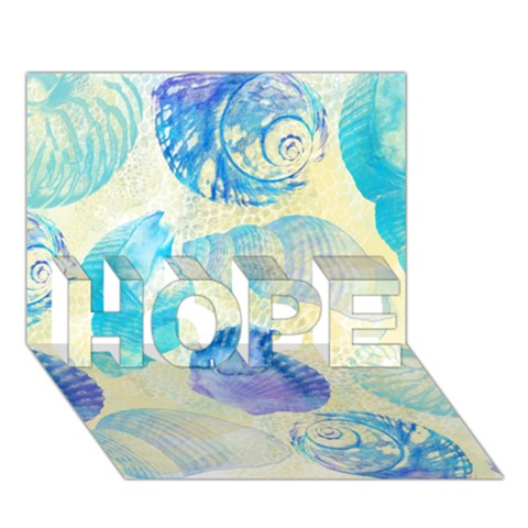 Seashells HOPE 3D Greeting Card (7x5)
