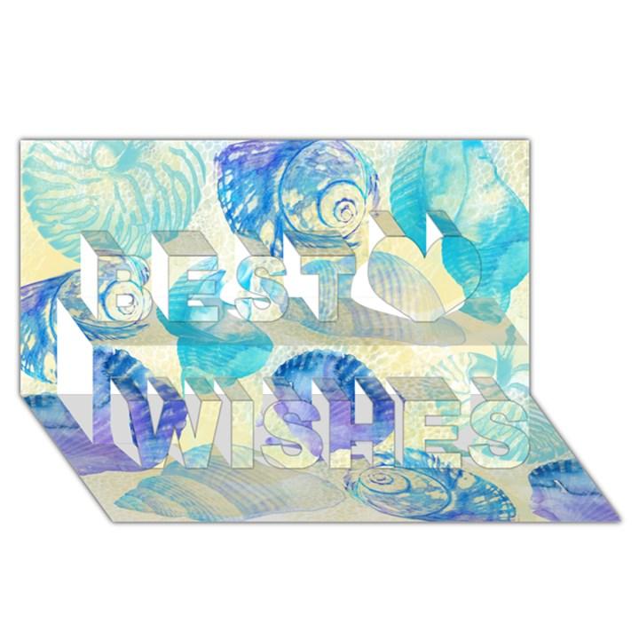 Seashells Best Wish 3D Greeting Card (8x4)