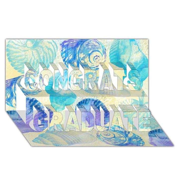 Seashells Congrats Graduate 3D Greeting Card (8x4)