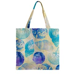 Seashells Zipper Grocery Tote Bag
