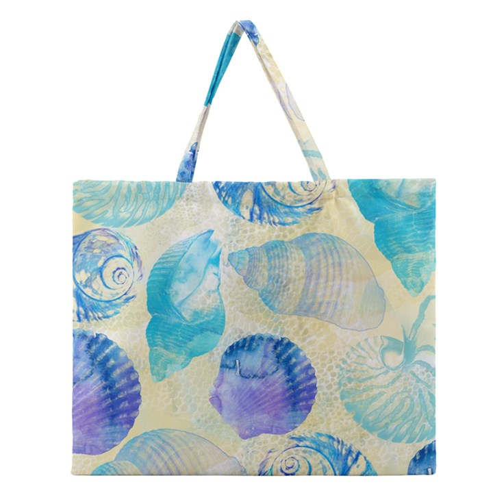 Seashells Zipper Large Tote Bag