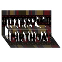 Tardis Doctor Who Ugly Holiday Happy Birthday 3d Greeting Card (8x4)