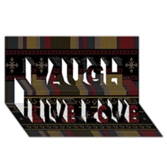 Tardis Doctor Who Ugly Holiday Laugh Live Love 3D Greeting Card (8x4)