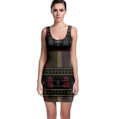 Tardis Doctor Who Ugly Holiday Sleeveless Bodycon Dress