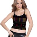 Tardis Doctor Who Ugly Holiday Spaghetti Strap Bra Top View1