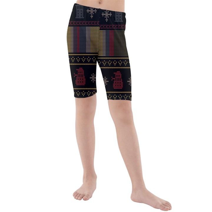 Tardis Doctor Who Ugly Holiday Kids  Mid Length Swim Shorts