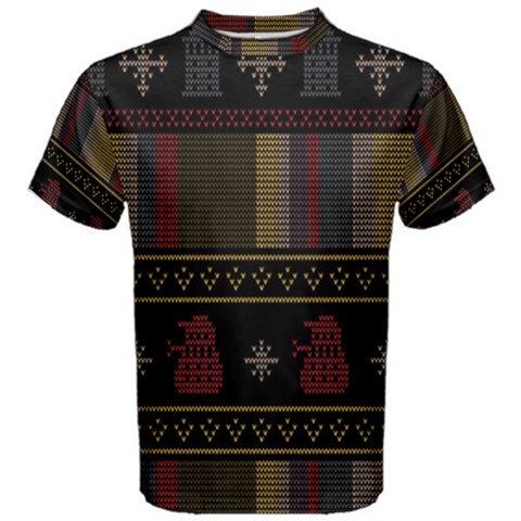 Tardis Doctor Who Ugly Holiday Men s Cotton Tee