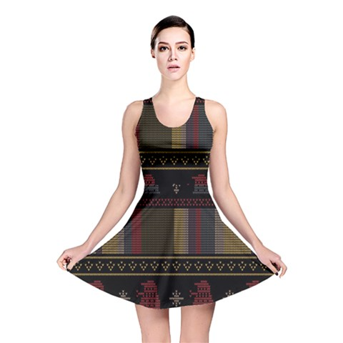 Tardis Doctor Who Ugly Holiday Reversible Skater Dress