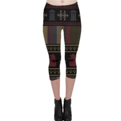 Tardis Doctor Who Ugly Holiday Capri Leggings