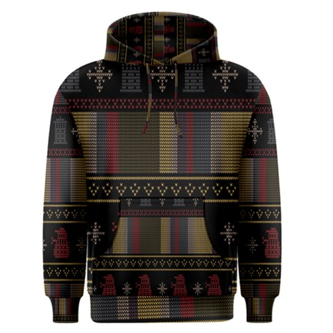 Tardis Doctor Who Ugly Holiday Men s Pullover Hoodie