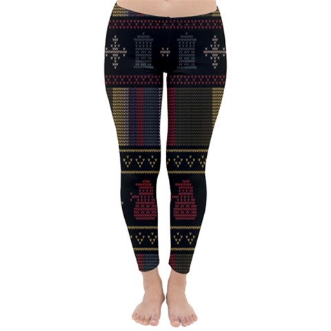 Tardis Doctor Who Ugly Holiday Winter Leggings