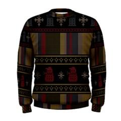 Tardis Doctor Who Ugly Holiday Men s Sweatshirt