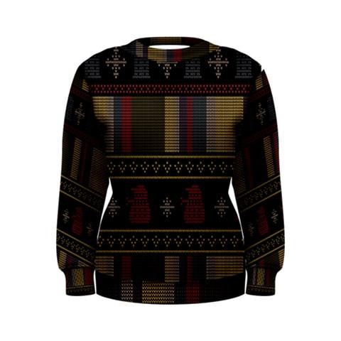 Tardis Doctor Who Ugly Holiday Women s Sweatshirt