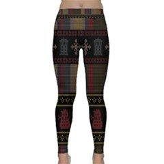 Tardis Doctor Who Ugly Holiday Yoga Leggings