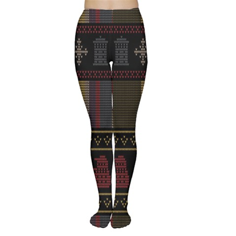 Tardis Doctor Who Ugly Holiday Women s Tights
