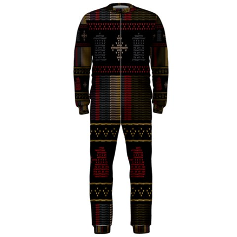 Tardis Doctor Who Ugly Holiday OnePiece Jumpsuit (Men)
